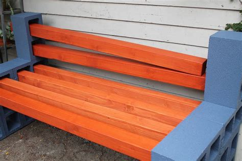 how to make a cinder block bench how to make a simple outdoor bench ehow