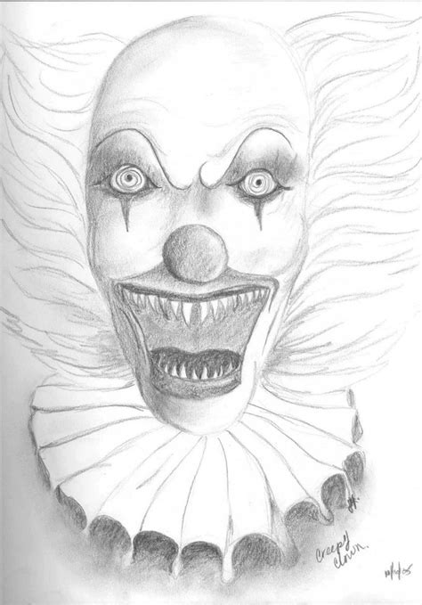 creepy clown coloring pages coloring home