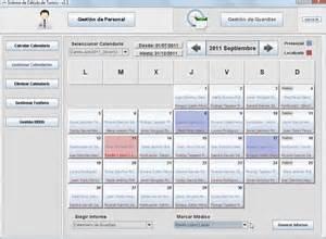 Sistema De Calendario Sicatu Sistema De C 225 Lculo De Turnos