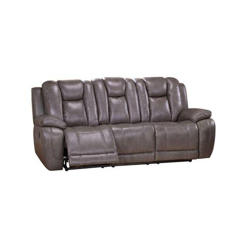amax leather austin top grain leather smoke grey reclining