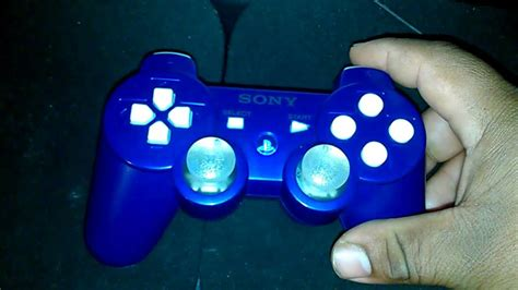 ps3 controller light codes my custom ps3 blue controller psn analog stick light modd