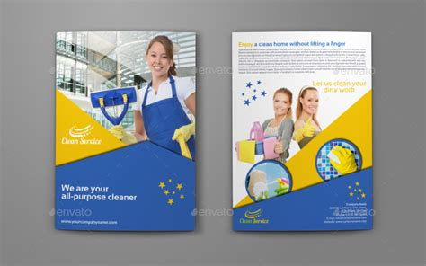 cleaning service brochure templates 33 service brochure designs