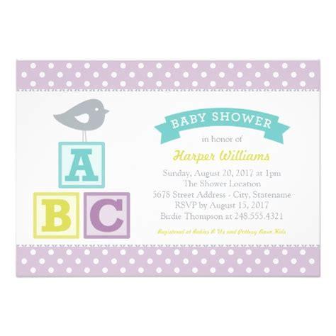 Abc Blocks Baby Shower by Baby Shower Invitation Abc Alphabet Blocks Theme 5 Quot X 7