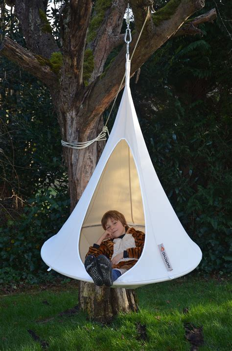 hanging tent bonsai hanging armchair 216 120 cm for children taupe by