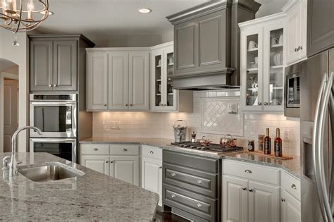 charcoal kitchen cabinets kitchen with white and gray cabinets transitional