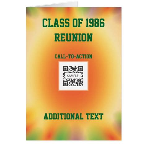 Classification Card Template by Greeting Card Template Class Reunion Zazzle