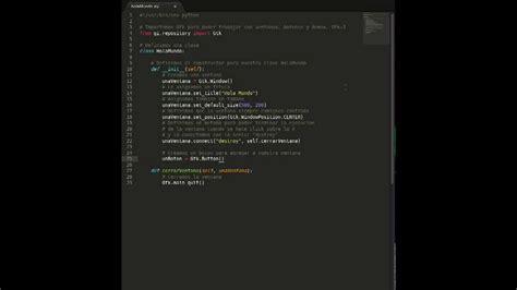 tutorial python interface tutorial gui en python con gtk3 youtube