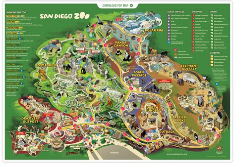 zoo map san diego zoo one travel