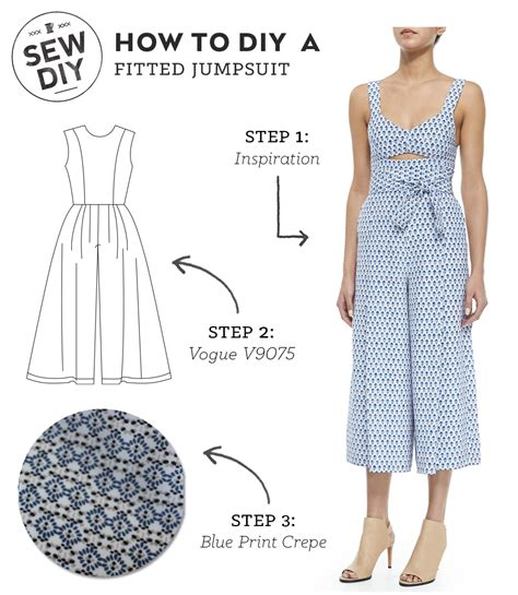pattern making of jumpsuit diy outfit fitted jumpsuit sew diy