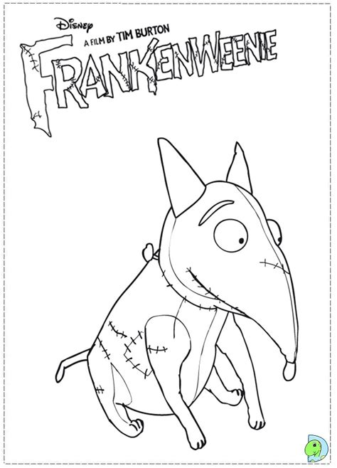 Frankenweenie Coloring Page Dinokids Org Sparky The Coloring Pages