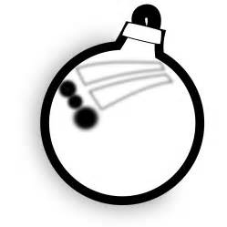 clipart black and white xmas ornament black white line