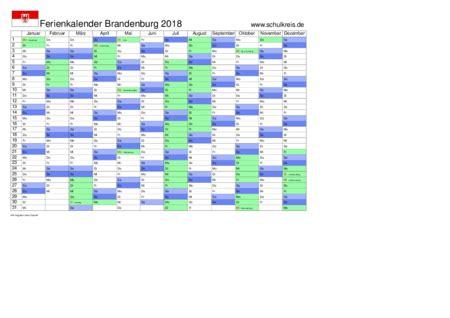Kalender 2018 Mit Feiertagen Brandenburg Schulkreis De Schulferien Kalender Brandenburg 2018
