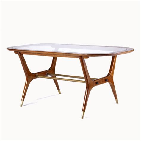 modern mahogany trestle base dining table with 614775