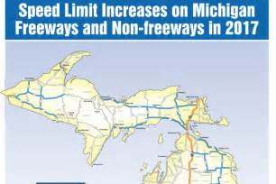 speed limits in map speed limits to increase on some michigan roads and highways