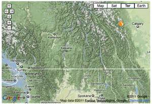 canmore canada map location information for yamnuska mountain adventures