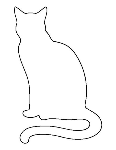 Cat Templates sitting cat pattern use the printable outline for crafts