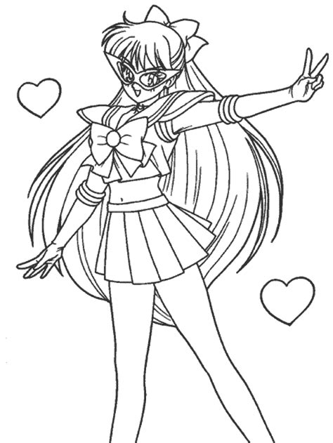 Sailor V Coloring Pages by 美 少女 Colouring Pages