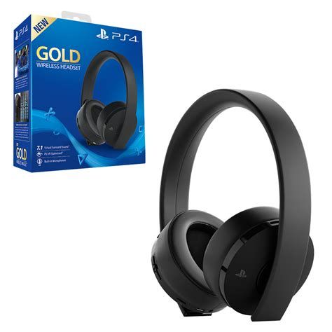 ps4 wireless gold wireless headset for ps4 the gamesmen