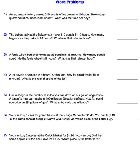 Ratio Word Problems Worksheet by Pre Algebra Math With Ms Smith