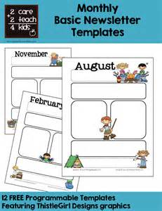 monthly newsletter template for teachers basic newsletters free printable templates