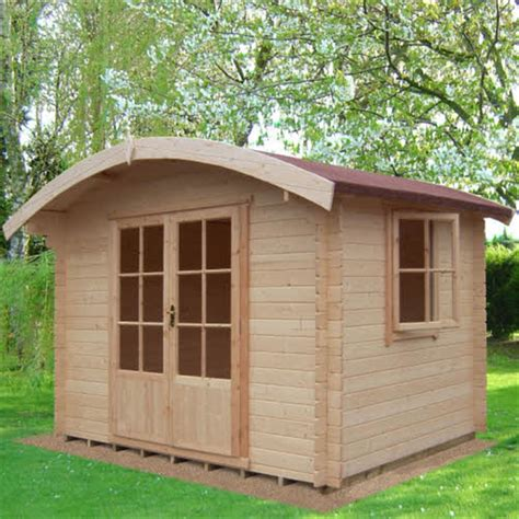 curved roof cabin 2 99 x 2 39 curved roof style log cabin 28mm