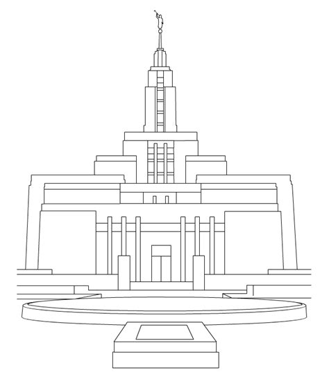 Lds Coloring Pages Temple Lds Temple Coloring Pages