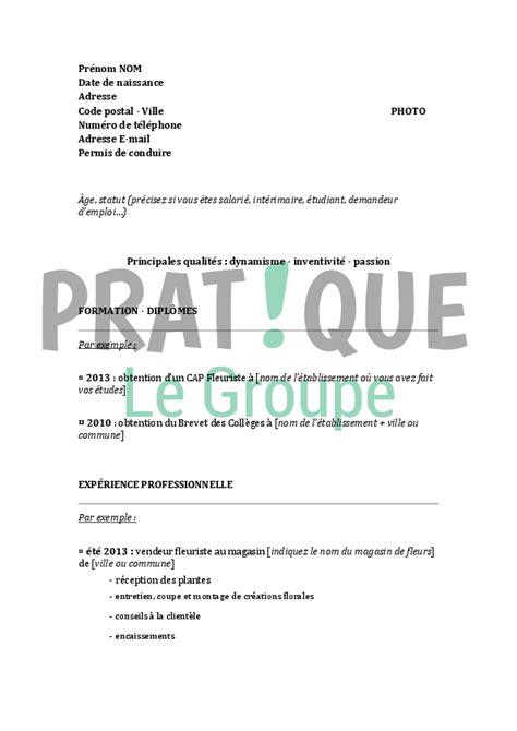 Exemple De Lettre De Motivation Fleuriste Modele Cv Fleuriste Gratuit Cv Anonyme