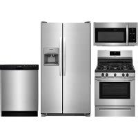frigidaire professional 4 piece stainless steel kitchen frigidaire stainless steel 4 piece gas kitchen package