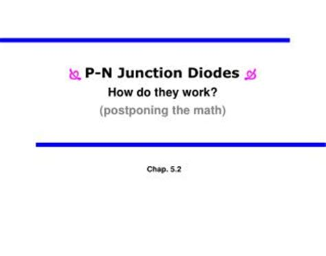 what are diodes and how do they work ppt pn junction diodes powerpoint presentation id 6539311