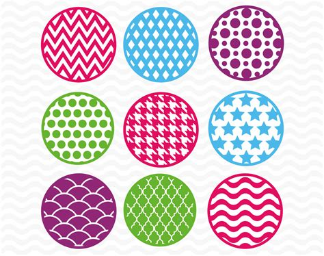 svg pattern circle patterned circle designs svg dxf eps vinyl cutting files