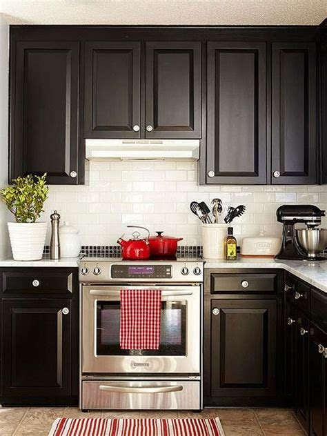 small kitchen with black cabinets one color fits most black kitchen cabinets