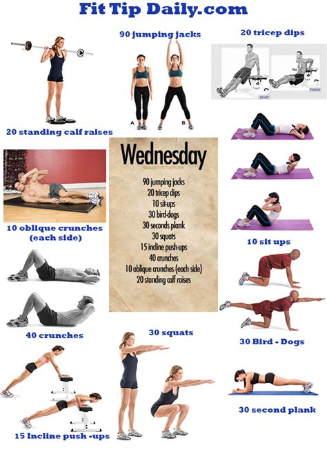exercises dissected wednesday get a jump on