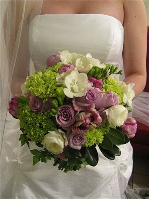bouquet bridal purple and green wedding bouquets