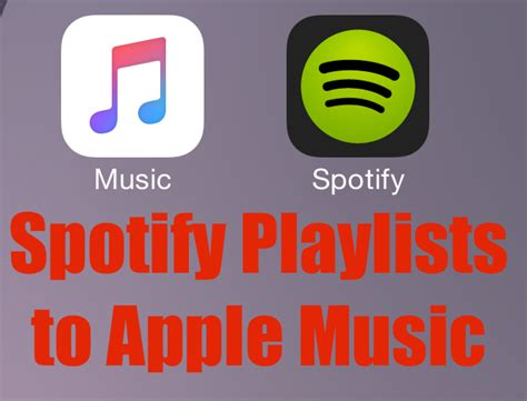 how to transfer spotify playlists to apple music how to transfer spotify playlists to apple music