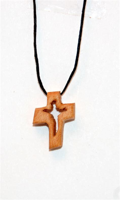 Handmade Cross Necklace - handmade wooden cross necklace by kwithrow on etsy