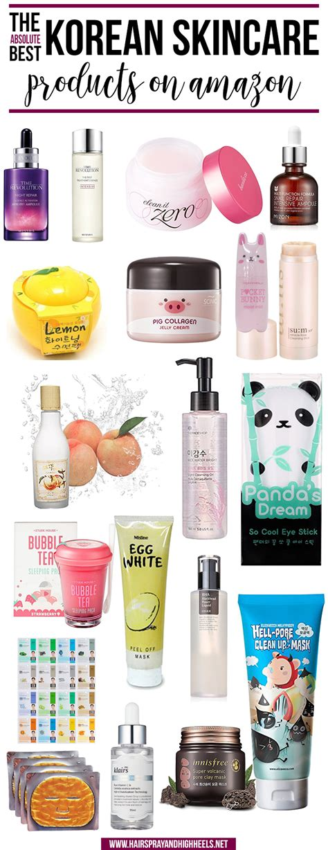 the best skin care products best korean skincare on hairspray and highheels