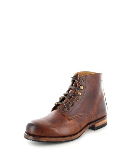 mens brown fashion boots sendra boots 10604 evolution tang mens laced boot brown