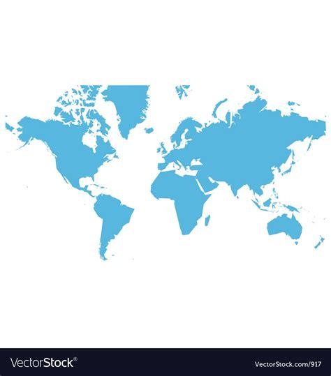 world map flat royalty  vector image vectorstock