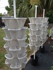 24 large vertical gardening planters use mr stacky pots with any grow medium great for soil
