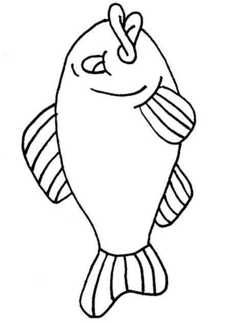 simple fish coloring page az coloring pages