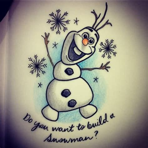 olaf tattoo frozen olaf www pixshark images galleries