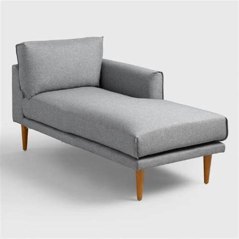 right arm chaise lounge gray nica right arm facing chaise lounge world market