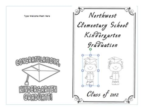 Kindergarten Graduation Program Template By Heather Bridges Teachers Pay Teachers Preschool Graduation Program Template 2