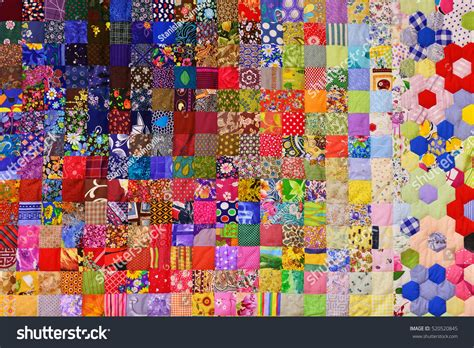 Patchwork Photo Quilt - patchwork quilt part patchwork quilt background stock
