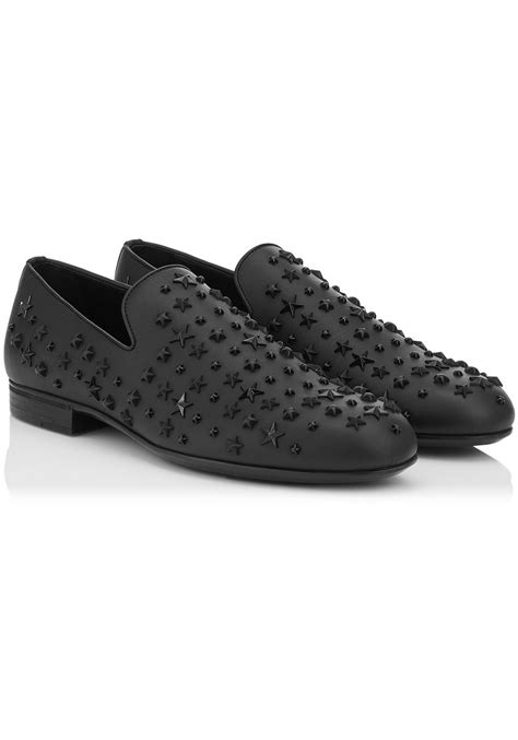 loafers in black jimmy choo s loafers in black leather metal