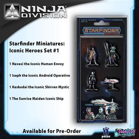 starfinder pawns archive pawn box books paizo starfinder miniatures iconic heroes set 1