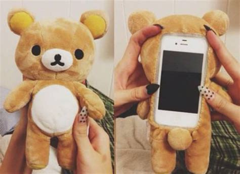 Iphone 5 5s 5se 3d Teddy Brown Soft Silicone Tpu Armor bag stuffed animal for iphone 4 4s 5 pastel phone