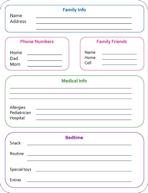 nanny information sheet template 10 tips to being a better from to