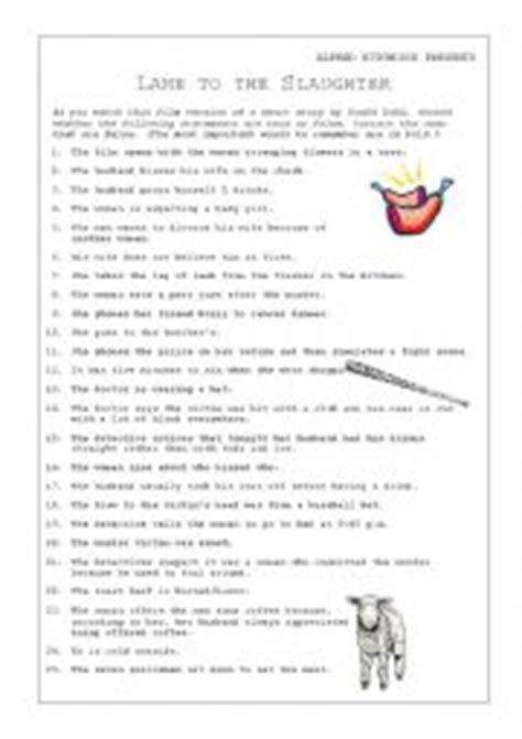 printable version of lamb to the slaughter english worksheet lamb to the slaughter video