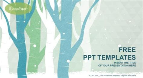 free winter powerpoint templates forest winter powerpoint template free professional